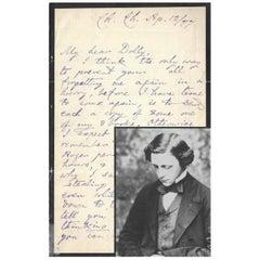 Lewis Carroll two genuine original handwritten letters