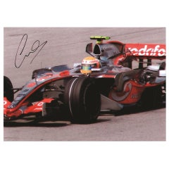Lewis Hamilton 20th Century Signed Photograph Colour