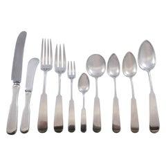Lexington Jensen USA Sterling Silver Flatware Set Service 66 Pieces Fiddle