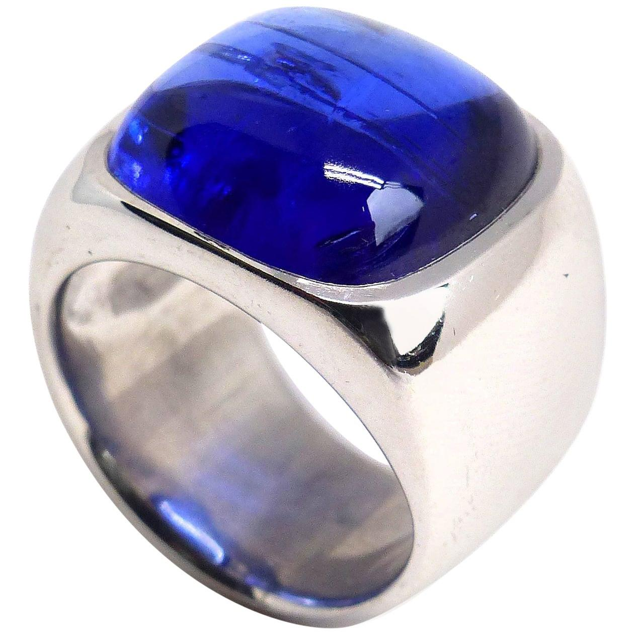 Leyser 18k White Gold Tanzanite Ring