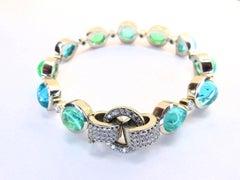 Leyser 950/ Platinum Paraiba Tourmaline Diamond Bracelet