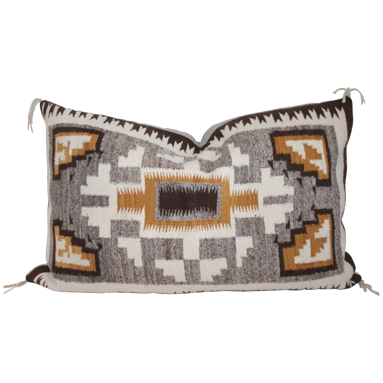 Lg. Navajo Indian Weaving Saddle Blanket Pillow