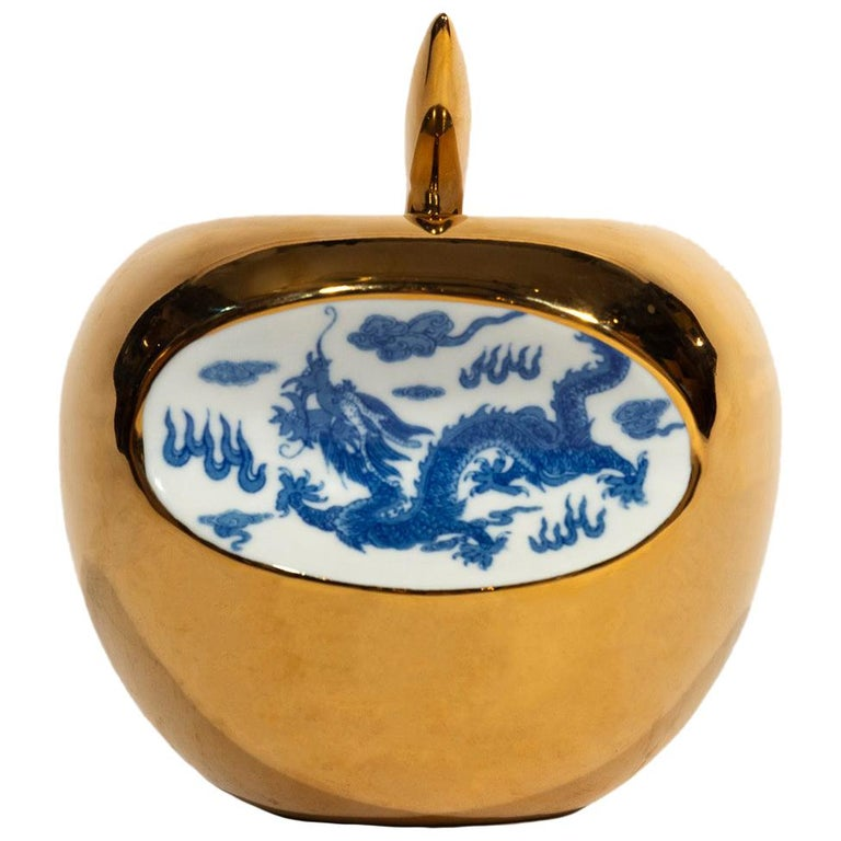 Li Lihong, Golden-Apple China, Sculpture, circa 2010 For Sale