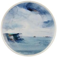 "Li Linhong ""Sea Breeze"" Artist Marked Plate Dated 1987 Chinese Porcelain"