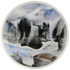 "Li Linhong ""Three Gorges"" Artist Marked Plate Chinese Porcelain, China"