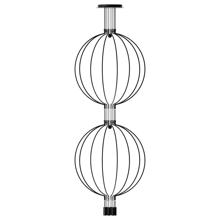 Liaison DG8 a Grand and Elegant in a 2-Tiers Big-Size LED Pendant with 8-Light For Sale