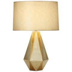 Liam Table Lamp in Silver and Gold Ceramic by CuratedKravet