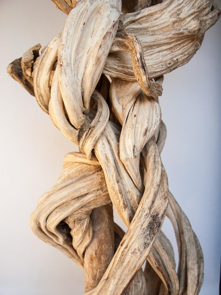 Liana Vine Sculpture on a Metal Stand, from Thailand For Sale 6
