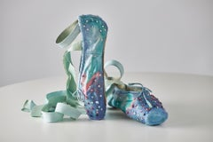 Aurora Borealis: A Place of Bliss, mixed media on ballet shoes