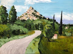 Gordes, Somewhere in Provence, Painting, Acrylic on Canvas