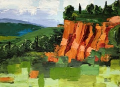 Hills of Roussillon, Somewhere in Provence, Painting, Acrylic on Canvas