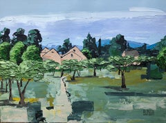 Olive Trees, Somewhere in Provence, Painting, Acrylic on Canvas