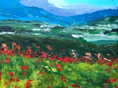 Roussillon Valley, Painting, Acrylic on Canvas