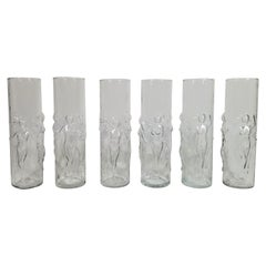 Libbey Figural 1960s Midcentury Glassware Barware Set of 6