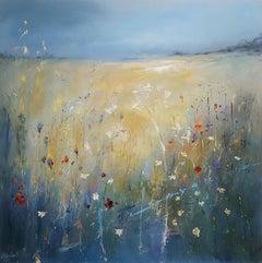 Libbi Gooch, Wild Edge, Original Abstract Landscape Painting, Contemporary Art