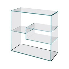 Liber Glass Bookcase, Designed by Luca Papini, Made in Italy