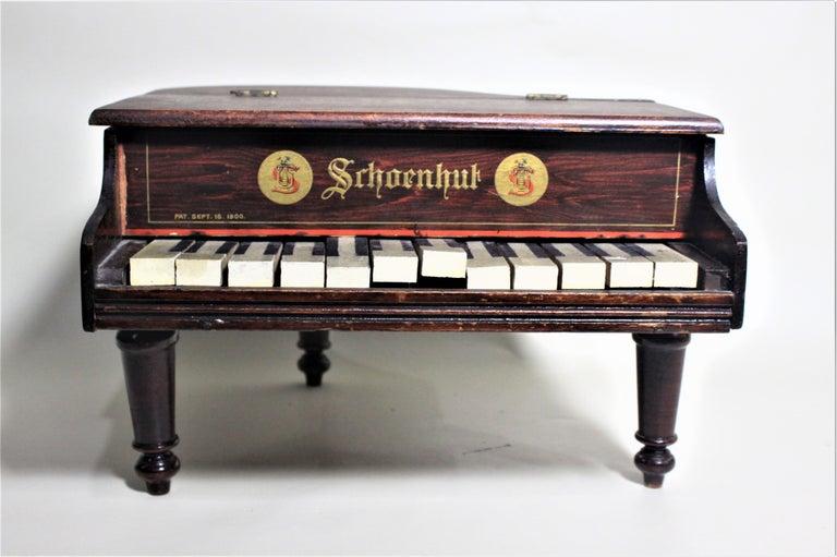 Victorian Liberace Autographed Vintage Schoenhut Toy Grand Piano For Sale