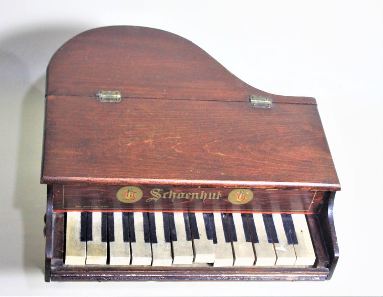 American Liberace Autographed Vintage Schoenhut Toy Grand Piano For Sale