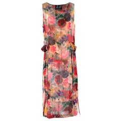 Libertine Painted Flowers 1930s Dress - Size US 10
