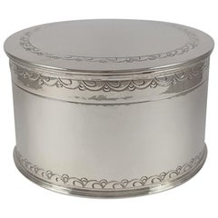 Liberty and Co Sterling Silver Hammered Biscuit Box, Birmingham, 1929
