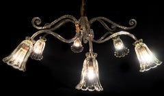Liberty Chandelier by Ercole Barovier, Murano, 1940s