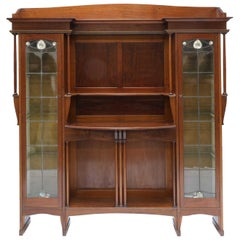 Liberty & Co. a Mahogany Display Cabinet with Floral Mother of Pearl Decoration