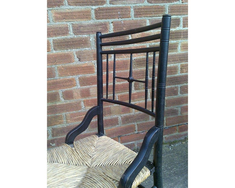 Liberty & Co. Aesthetic Movement Ebonized Side Chair, Style of Ford Madox Brown In Good Condition For Sale In London, GB