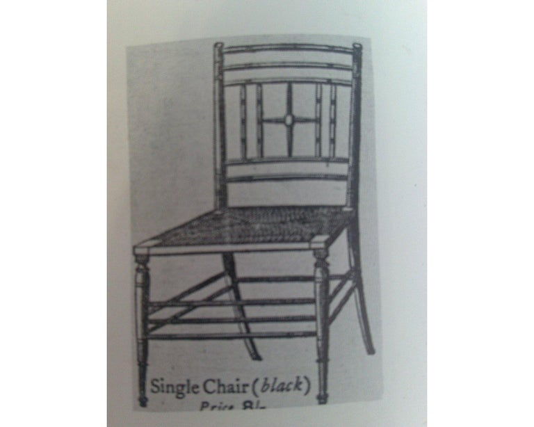 Beech Liberty & Co. Aesthetic Movement Ebonized Side Chair, Style of Ford Madox Brown For Sale
