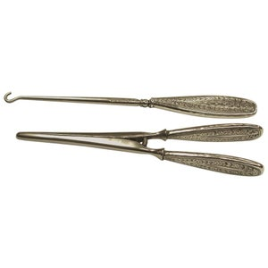 Liberty & Co Arts and Crafts Silver Handled Glove Stretchers & Button Hook, 1913