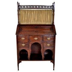 Liberty & Co Arts & Crafts Anglo Moorish Medina Bureau Desk Oak L F Wyburd, 1900