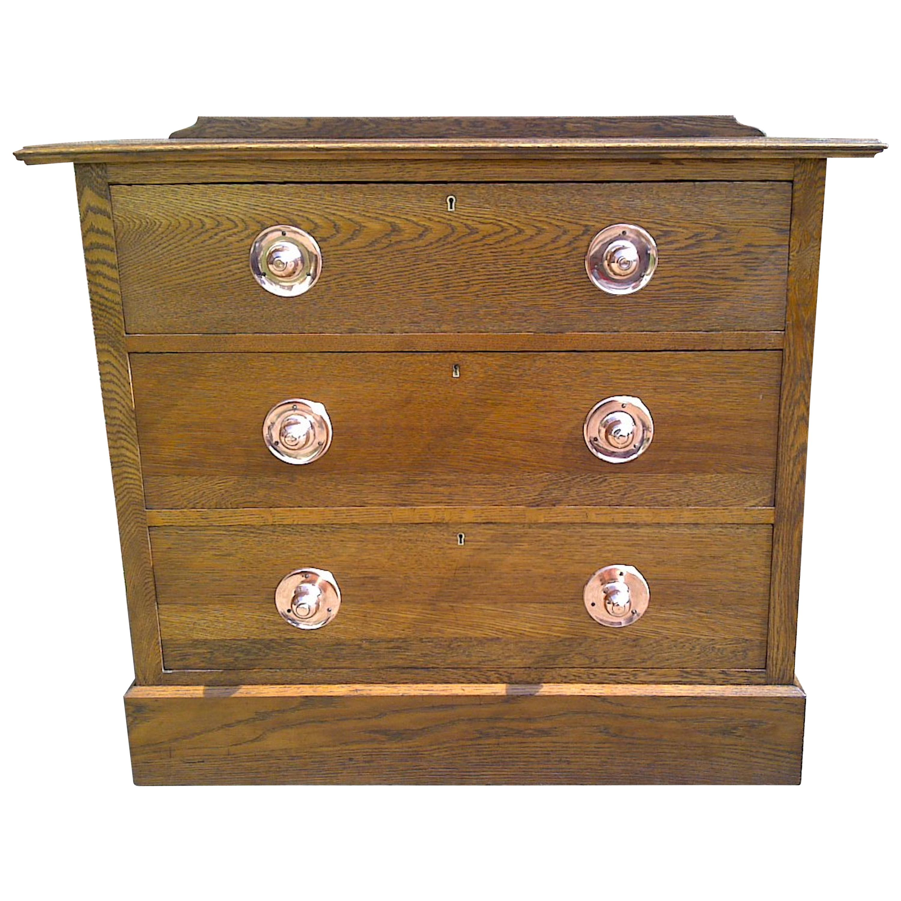 Liberty & Co Attri, Arts & Crafts Oak Chest of Drawers of Small Proportions