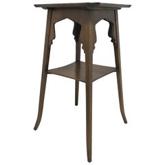 Liberty & Co Attributed, an Elegant Anglo-Moorish Aesthetic Elm Side Table
