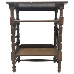 Liberty & Co Attributed, Arts & Crafts Book Stand with Moorish Turned Decoration