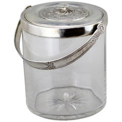 Liberty & Co., Sterling Silver and Glass Ice Bucket, Birmingham, 1917