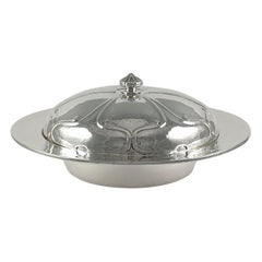 Liberty & Co Sterling Silver Muffin Dish by Oliver Baker