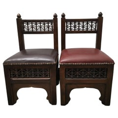 Liberty & Co. Two Moorish Side or Childs Chair with Mashrabiya Turned Details