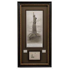 Liberty Enlightening the World Lithograph and Inauguration Invitation, 1883