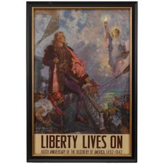 """""""Liberty Lives On"""" Vintage Poster by Howard Chandler Christy, 1942"""