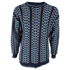 Liberty of London Mens Vintage Chunky Textured Knit Jumper