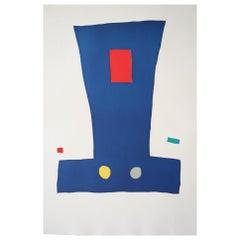 """Liblatur"" Original Bauhaus Artist Linocut Print, Signed Werner Graeff"