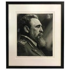 Liborio Noval Cuban Limited Edition Large Silver Gelatin Print of Fidel Castro
