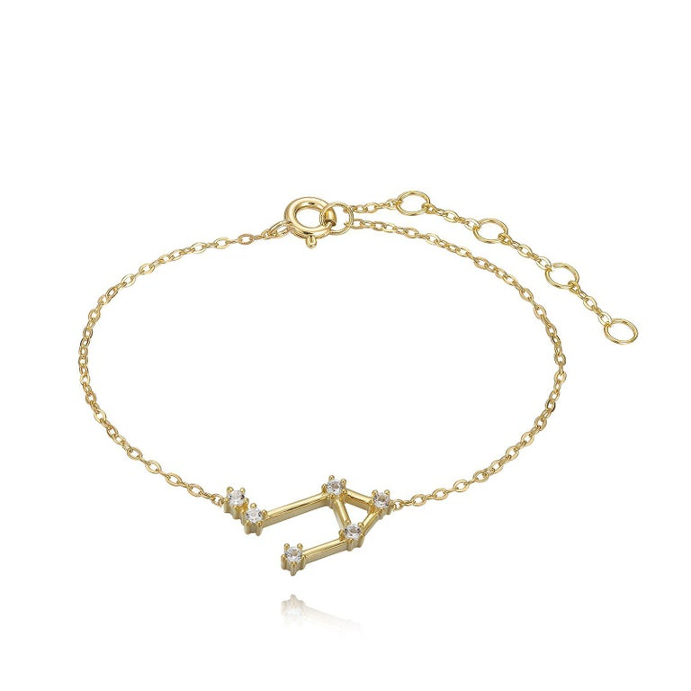 Trillion Cut Libra Constellation Bracelet For Sale