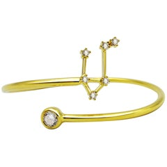 Libra Constellation Wire Bezel Cuff