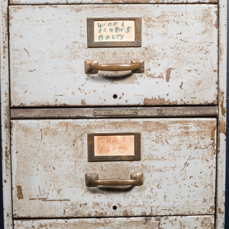 Industrial Library Bureau Sole Makers Inc. Factory 8-Drawer Steel File Cabinet, circa 1940