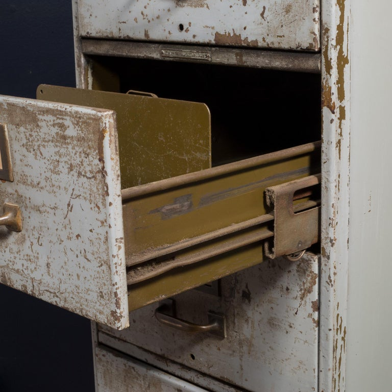 Library Bureau Sole Makers Inc. Factory 8-Drawer Steel File Cabinet, circa 1940  In Good Condition In San Francisco, CA