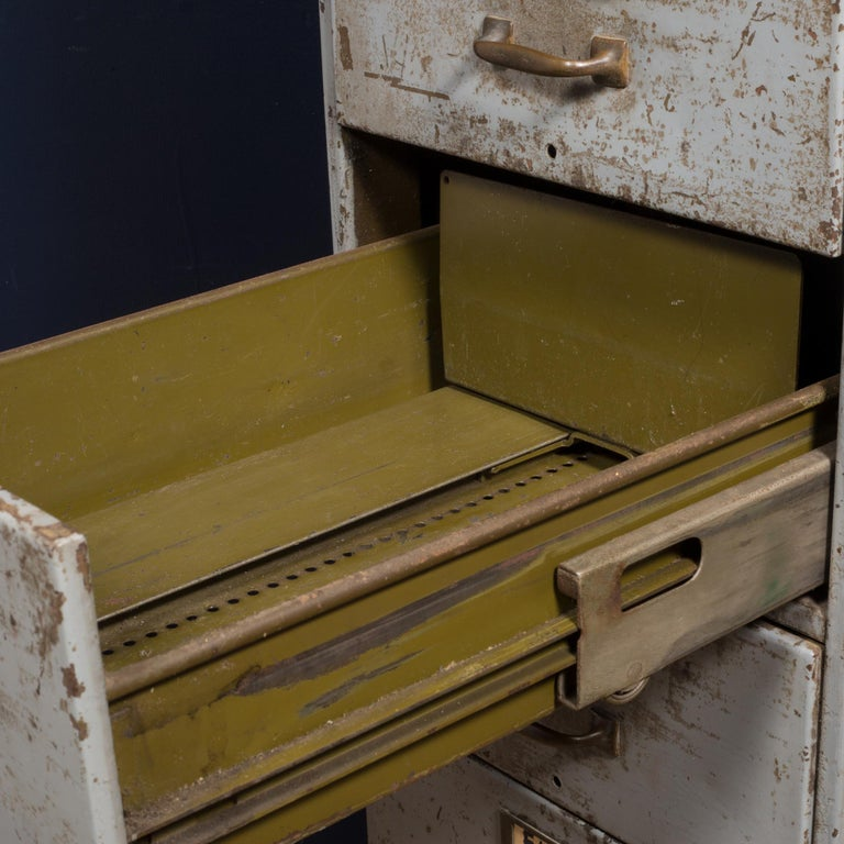 20th Century Library Bureau Sole Makers Inc. Factory 8-Drawer Steel File Cabinet, circa 1940
