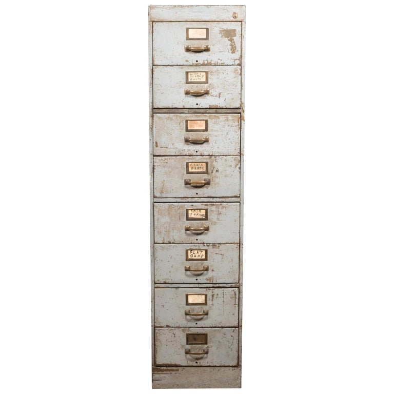 Library Bureau Sole Makers Inc. Factory 8-Drawer Steel File Cabinet, circa 1940
