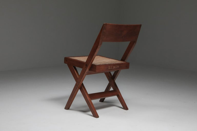 Mid-Century Modern Library Chair by Pierre Jeanneret, a Pair For Sale