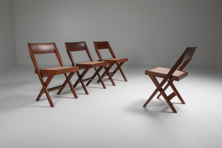 Library Chair by Pierre Jeanneret, a Pair In Good Condition For Sale In Antwerp, BE