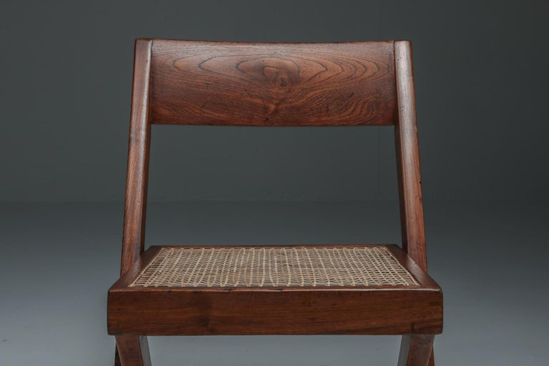 Library Chair by Pierre Jeanneret, Set of Four For Sale 3